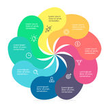Infographic element with twisted petals Stock Photography
