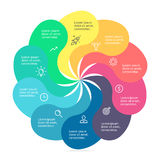 Infographic element z kręconymi płatkami Obrazy Stock