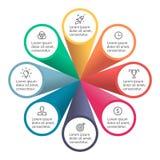 Infographic element z płatkami Obraz Stock