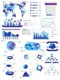 Infographic-Elementdiagramm und -graphik Stockbilder