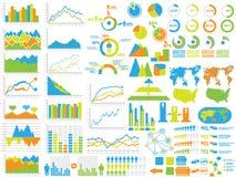 Infographic-Elementdiagramm und -graphik Lizenzfreies Stockbild