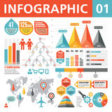 Infographic Elemente 01 Stockfotografie