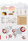 Infographic Elemente lizenzfreies stockbild