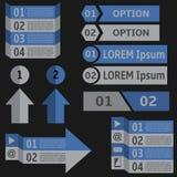 Infographic Elemente Stockfotos
