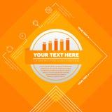 Infographic-Elemente - Balkendiagramm und Ikonen Stockbilder