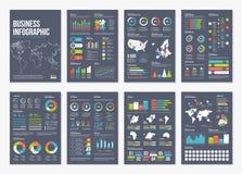 Infographic Elemente der Broschüre A4 des Vektors Stockfotos