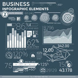 Infographic Elemente des Geschäfts Lizenzfreies Stockfoto