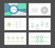 Infographic-Elemente für Darstellungsschablonen Stock Abbildung