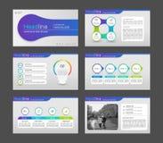 Infographic-Elemente für Darstellungsschablonen Lizenzfreie Abbildung