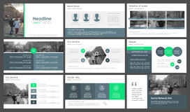 Infographic-Elemente für Darstellungsschablonen Lizenzfreies Stockbild
