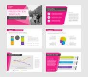 Infographic-Elemente für Darstellungsschablonen Stockfoto