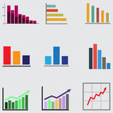 Infographic Elemente Geschäftsdiagramme und -graphiken vektor abbildung