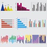 Infographic Elemente Geschäftsdiagramme und -graphiken lizenzfreie abbildung