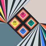 Infographic-Elemente im Design der quadratischen und abstrakten Treppe Stockfotos