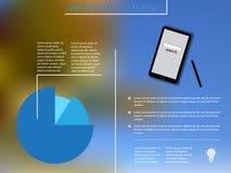 Infographic-Elemente mit blauem Diagramm und smartphoneInfographic Elemente mit blauem Diagramm und Smartphone Stockfoto
