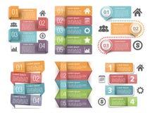 Infographic-Elemente mit Zahlen Stockfoto