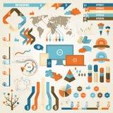 Infographic-Elemente und Kommunikations-Konzept Lizenzfreies Stockfoto