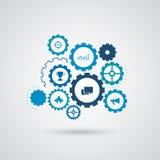 Infographic Elemente Zahnradgang - Geschäftskonzept Stockfotos
