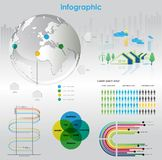 infographic elementgrafer Vektor Illustrationer