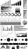 Infographic elements. Different type of infographic elements Stock Images