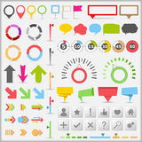 Infographic Elements. Set of different infographic elements stock illustration