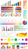 Infographic elements. Colorful infographic elements - concept design Royalty Free Stock Photography
