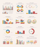 Infographic elements big set Stock Photography