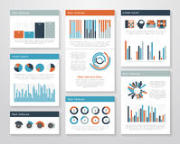 Infographic elements big set Royalty Free Stock Images