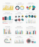 Infographic elements big set Royalty Free Stock Image