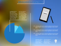 Infographic elements with blue diagram and smartphoneInfographic elements with blue diagram and smartphone. Infographic elements with blue diagram and smartphone Stock Photo