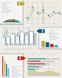 Infographic elements. Business bars and charts. Royalty Free Stock Images