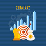 Infographic elements for Business progress concept. Royalty Free Stock Images