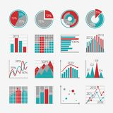 Infographic elements for business report. Presentation or website isolated vector illustration Royalty Free Stock Images