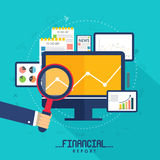 Infographic elements for Business Reports presentation. Royalty Free Stock Images