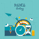 Infographic elements for Business Strategy concept. Creative Infographic layout with colorful elements for Business Strategy and success concept Royalty Free Stock Photos