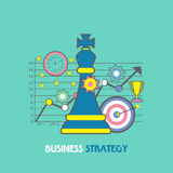 Infographic elements for Business Strategy concept. Creative infographic elements with statistical graph for Business Strategy concept Stock Image