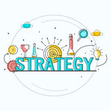Infographic elements for Business Strategy concept. Stock Photo