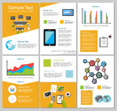 Infographic elements. Business or technology background. Brochure templates. Royalty Free Stock Images