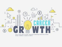 Infographic elements for Career Growth. Innovative Infographic elements for Career Growth concept Stock Photo