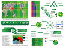 Infographic elements chart and graphic computer Stock Image