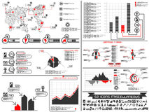 Infographic elements chart and graphic robotic Royalty Free Stock Photography