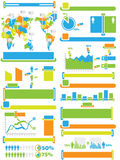 Infographic elements chart and graphic toy Stock Photography