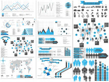 Infographic elements chart and graphic Royalty Free Stock Image