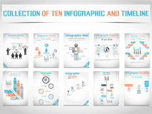 Infographic elements chart and graphic Stock Photo