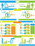 Infographic elements chart and graphic. For web Stock Photo