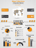 Infographic elements chart and graphic. For web Royalty Free Stock Images