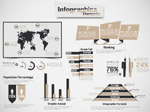 Infographic elements chart and graphic Royalty Free Stock Images