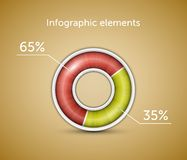 Infographic elements & chart Royalty Free Stock Photography