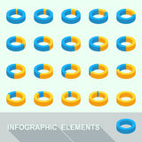 Infographic elements - circle diagrams Royalty Free Stock Images