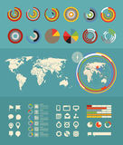 Infographic elements clip-art Royalty Free Stock Images